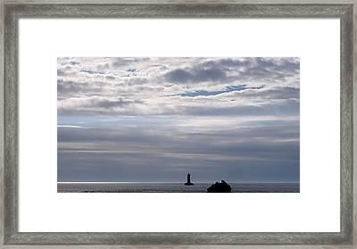 Silver On The Sea Framed Print by Menega Sabidussi