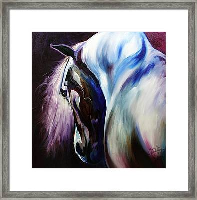 Silver Shadows Equine Framed Print by Marcia Baldwin