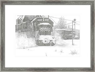 Silver Snow Framed Print by BJ Shine