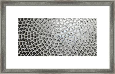 silver squares P/2 Framed Print by Ilonka Walter