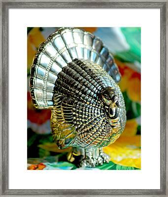 Silver Turkey Left Framed Print by LeeAnn McLaneGoetz McLaneGoetzStudioLLCcom