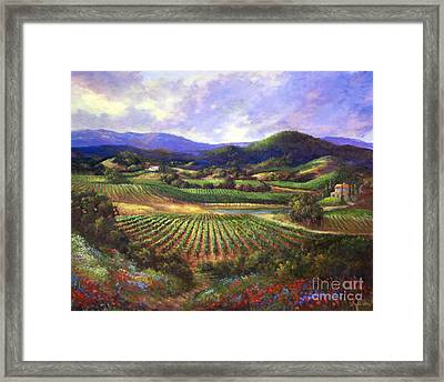 Silverado Valley Blooms Framed Print by Gail Salituri