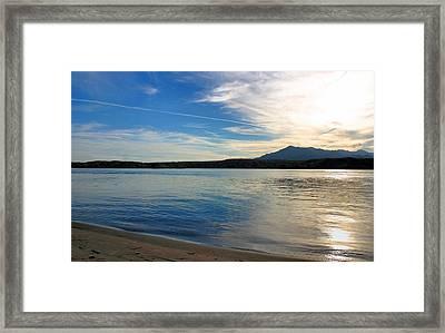 Silvery Reflection Framed Print by Kristin Elmquist