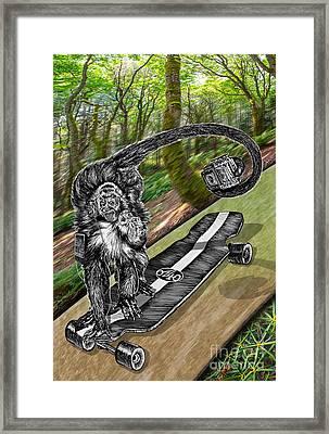 Simeon Skateboard Selfie Framed Print by Doug LaRue