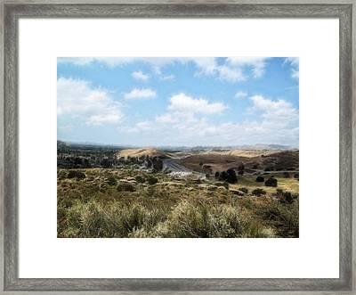 Simi Valley Ronald Reagan Country Framed Print by Cindy Nunn