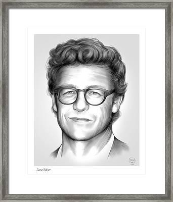 Simon Baker Framed Print by Greg Joens