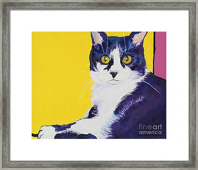 Simon Framed Print by Pat Saunders-White