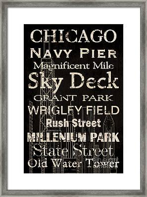 Simple Speak Chicago Framed Print by Grace Pullen