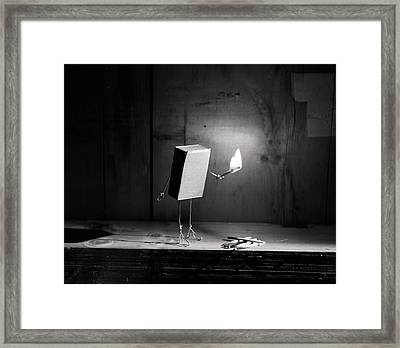 Simple Things - Light In The Dark Framed Print by Nailia Schwarz
