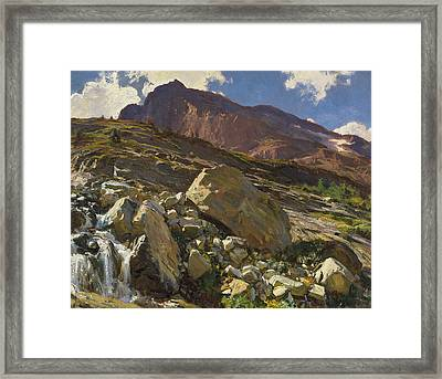 Simplon Pass Framed Print by John Singer Sargent