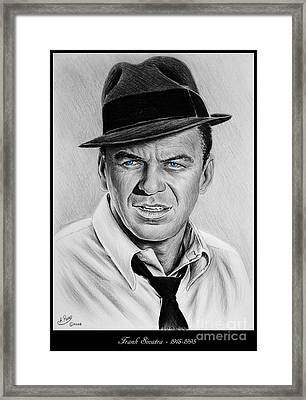 Sinatra Blue Eyes Edition Framed Print by Andrew Read