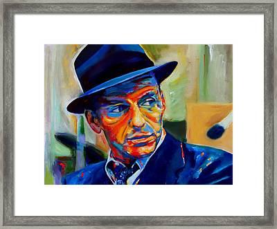 Sinatra Framed Print by Vel Verrept