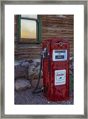 Sinclair Gas Pump Framed Print by Susan Candelario