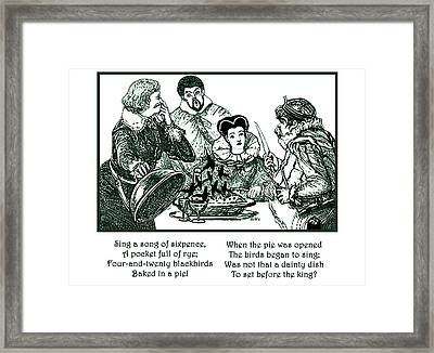 Sing A Song Of Sixpence Nursery Rhyme Framed Print by Marian Cates