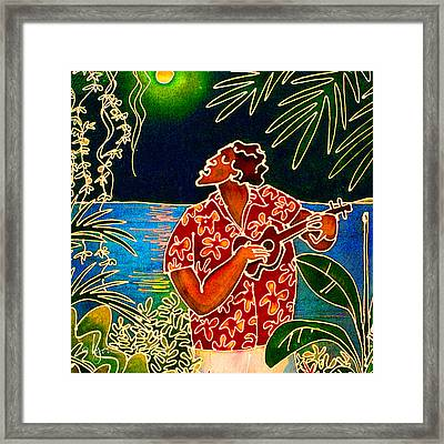 Sing Hanalei Moon Framed Print by Angela Treat Lyon