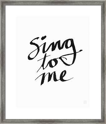 Sing To Me- Art By Linda Woods Framed Print by Linda Woods