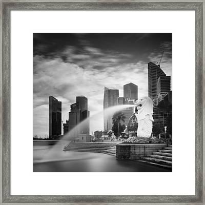 Singapore Harbour Framed Print by Nina Papiorek