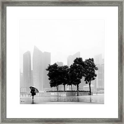 Singapore Umbrella Framed Print by Nina Papiorek