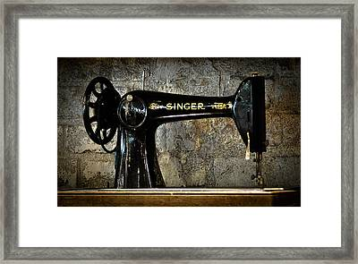 Singer Framed Print by Ronda Broatch