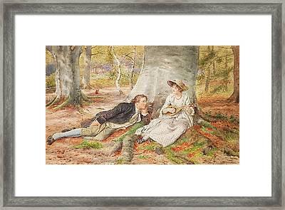 Singing Framed Print by George