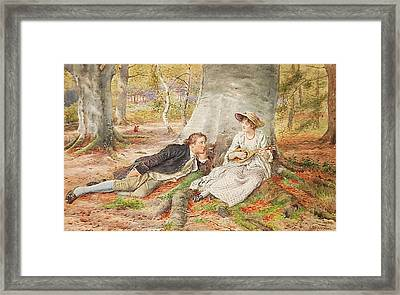 Singing Framed Print by George Goodwin