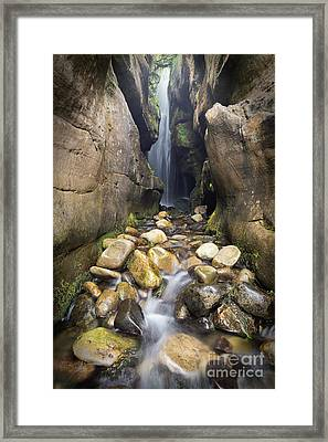 Singing Sands Waterfall Isle Of Eigg Framed Print by John Potter