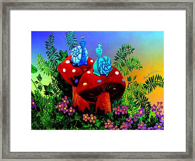 Singing Snail Framed Print by Hanne Lore Koehler