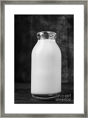 Single Old Fashioned Milk Bottle Framed Print by Edward Fielding