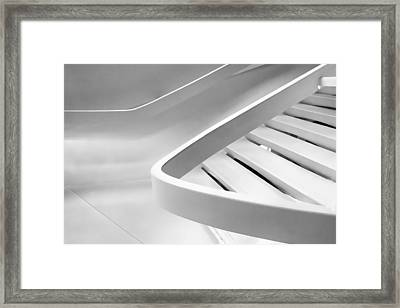 Sinuous In White Framed Print by Jessica Jenney