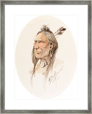 Sioux Brave  Framed Print by Celestial Images