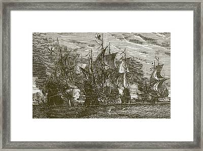 Sir Andrew Wood's Victory Framed Print by English School
