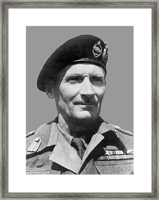 Sir Bernard Law Montgomery  Framed Print by War Is Hell Store