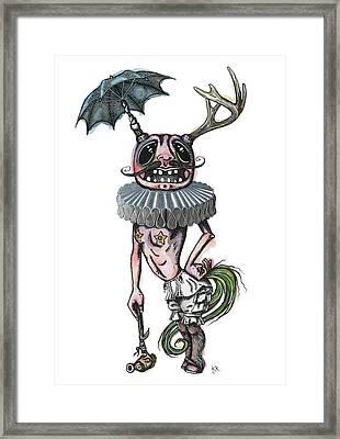 Sir Earnest Picklebottom Framed Print by Kelly Jade King