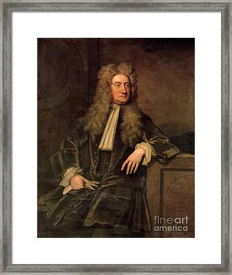 Sir Isaac Newton  Framed Print by Sir Godfrey Kneller