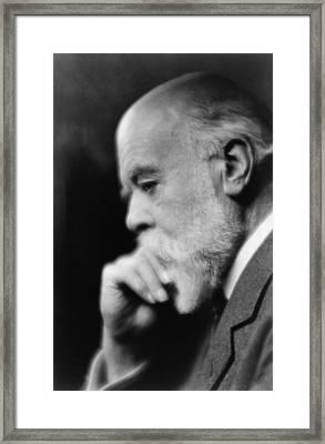Sir Oliver Lodge 1851-1940, British Framed Print by Everett
