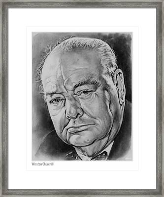 Sir Winston Churchill Framed Print by Greg Joens