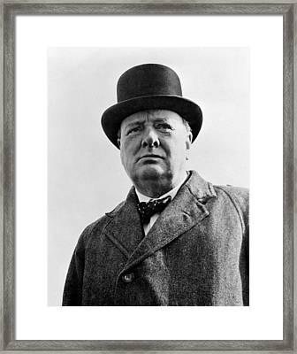 Sir Winston Churchill Framed Print by War Is Hell Store