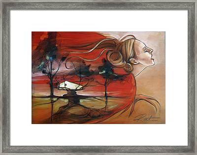 Siren Framed Print by Jacque Hudson