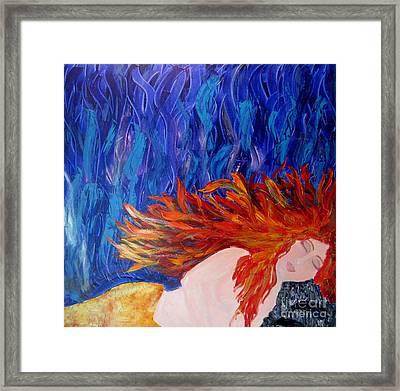 Siren Framed Print by Suzy Clarke