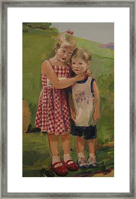Sister And Brother Framed Print by Tigran Ghulyan