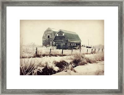 Sister Barns Framed Print by Julie Hamilton