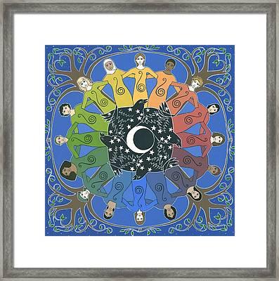 Sister Circle Framed Print by Karen MacKenzie