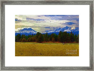 Sisters Cascade Range Framed Print by Diane E Berry