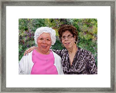 Sisters -commissioned  Framed Print by Reggie Duffie