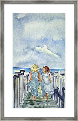 Sisters Framed Print by Paul SANDILANDS