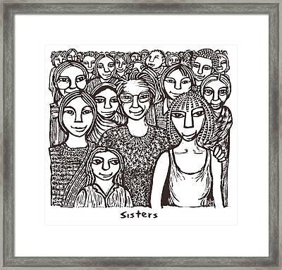 Sisters Framed Print by Ricardo Levins Morales