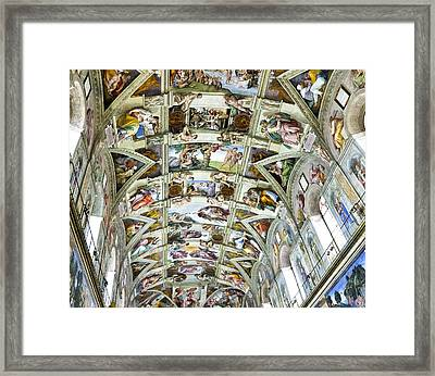 Sistine Chapel Framed Print by Jon Berghoff