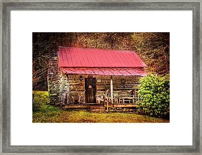 Sit Long Talk Much Framed Print by Debra and Dave Vanderlaan