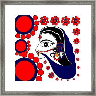 Sita In Vatika Framed Print by Pratyasha Nithin