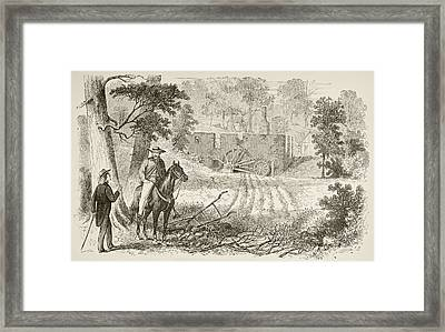 Site Of The Battle Of Gaines  Mill Framed Print by Vintage Design Pics